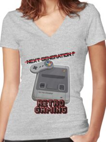 Retro Gaming Women's Fitted V-Neck T-Shirt