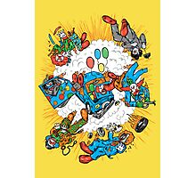 When Clown Cars Explode Photographic Print