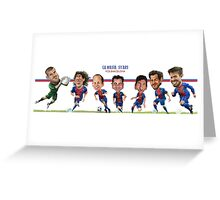 FC Barcelona Stars Greeting Card