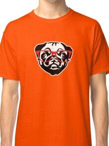 Nerd Pug Classic T-Shirt