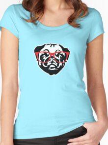 Nerd Pug Women's Fitted Scoop T-Shirt