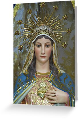 The Immaculate Heart of Mary by fajjenzu