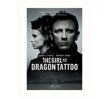 The Girl with the dragon tattoo Film poster Art Print