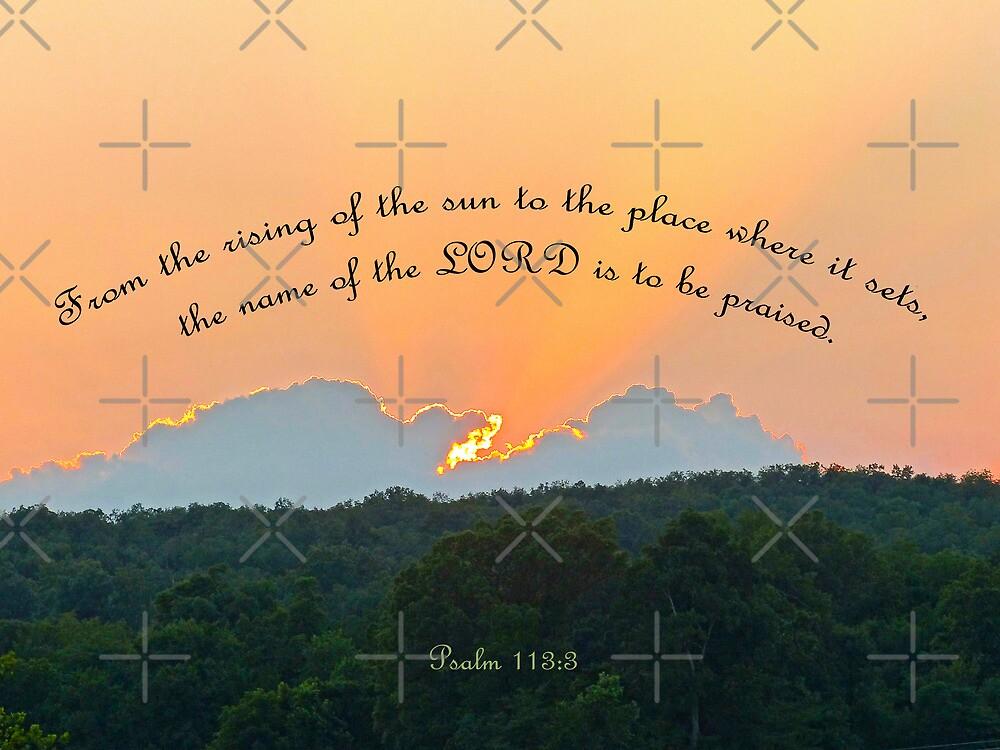Psalm 113:3 Greeting Card by Susan S. Kline