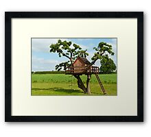Beautiful creative tree house Framed Print