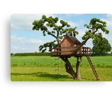 Beautiful creative tree house Canvas Print