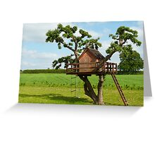 Beautiful creative tree house Greeting Card