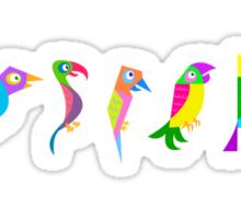 Tropical Birds Pattern Sticker
