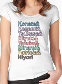 Lucky☆Star Characters Women's Fitted Scoop T-Shirt