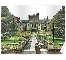 Hatley Castle - Rainy Day Poster