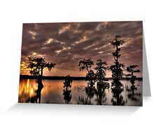 Lake Martin Sunset HDR Greeting Card