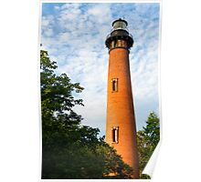 Currituck Beach Lighthouse in Carolla, NC Poster