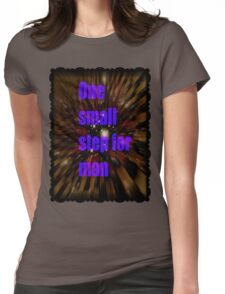 one small step for man Womens Fitted T-Shirt