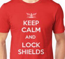 Keep Calm and Lock Shields Unisex T-Shirt