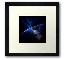space rocket Framed Print