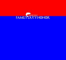 House Tully: Family Duty Honor w\o sigil - House Color by Zahaidies