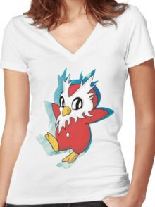 DeliBird Women's Fitted V-Neck T-Shirt