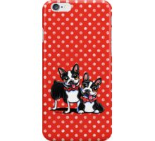 Merry Gentlemen | Boston Terriers iPhone Case/Skin