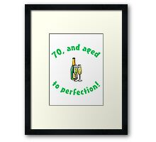 70th Birthday Aged To Perfection Framed Print
