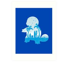 Blue companion Art Print