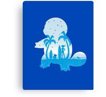 Blue companion Canvas Print