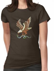Eagle and Snake T-Shirt Womens Fitted T-Shirt
