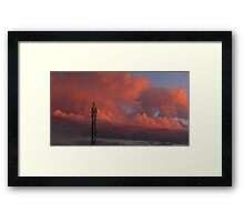 ©HCS Tower In Red Glow Framed Print