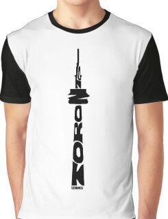 Toronto CN Tower Black Graphic T-Shirt