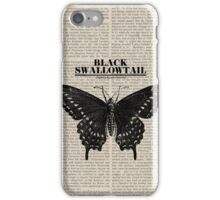 Vintage Swallowtail Butterfly iPhone Case/Skin