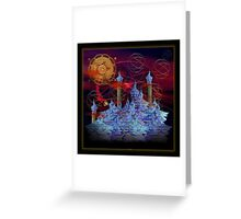 ©DA The District City Fractal Greeting Card