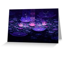 Jeweled Lotus Garden Greeting Card