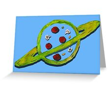 Pizza Planet Alien logo Greeting Card