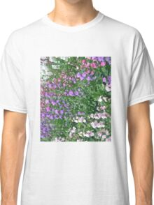 Watercolor Effect of Colorful Flowers Classic T-Shirt