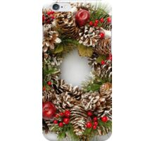 Christmas Wreath on White Background iPhone Case/Skin