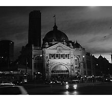 Flinders St Station At Night Photographic Print