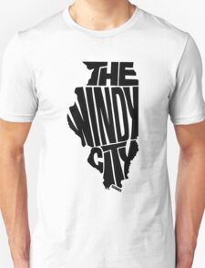 Chicago: The Windy City Black T-Shirt