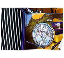 Hot Rod Show Car Light Poster