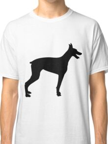 Doberman Silhouette 2 Classic T-Shirt