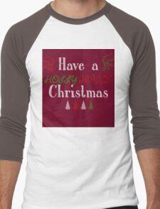 Holly Jolly Men's Baseball ¾ T-Shirt