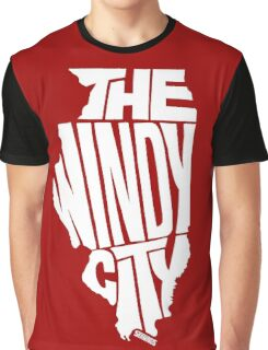 Chicago: The Windy City White Graphic T-Shirt