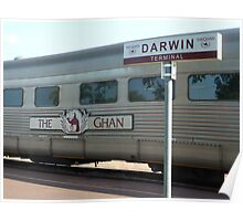 The Ghan at Darwin Station Poster