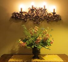 Candle Light & Posies by Sandra Fortier