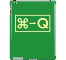 Emergency Exit ⌘+Q iPad Case/Skin