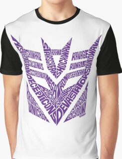 Transformers Decepticons Purple Graphic T-Shirt