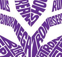 Transformers Decepticons Purple Sticker