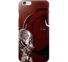 A Girls Voice - Singing Girl with Microphone iPhone Case/Skin