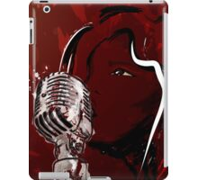 A Girls Voice - Singing Girl with Microphone iPad Case/Skin