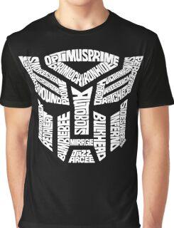 Transformer Autobots White Graphic T-Shirt