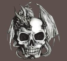 Dragon and Skull T-shirt by Walter Colvin