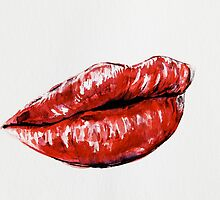 Red lips by Nika-art